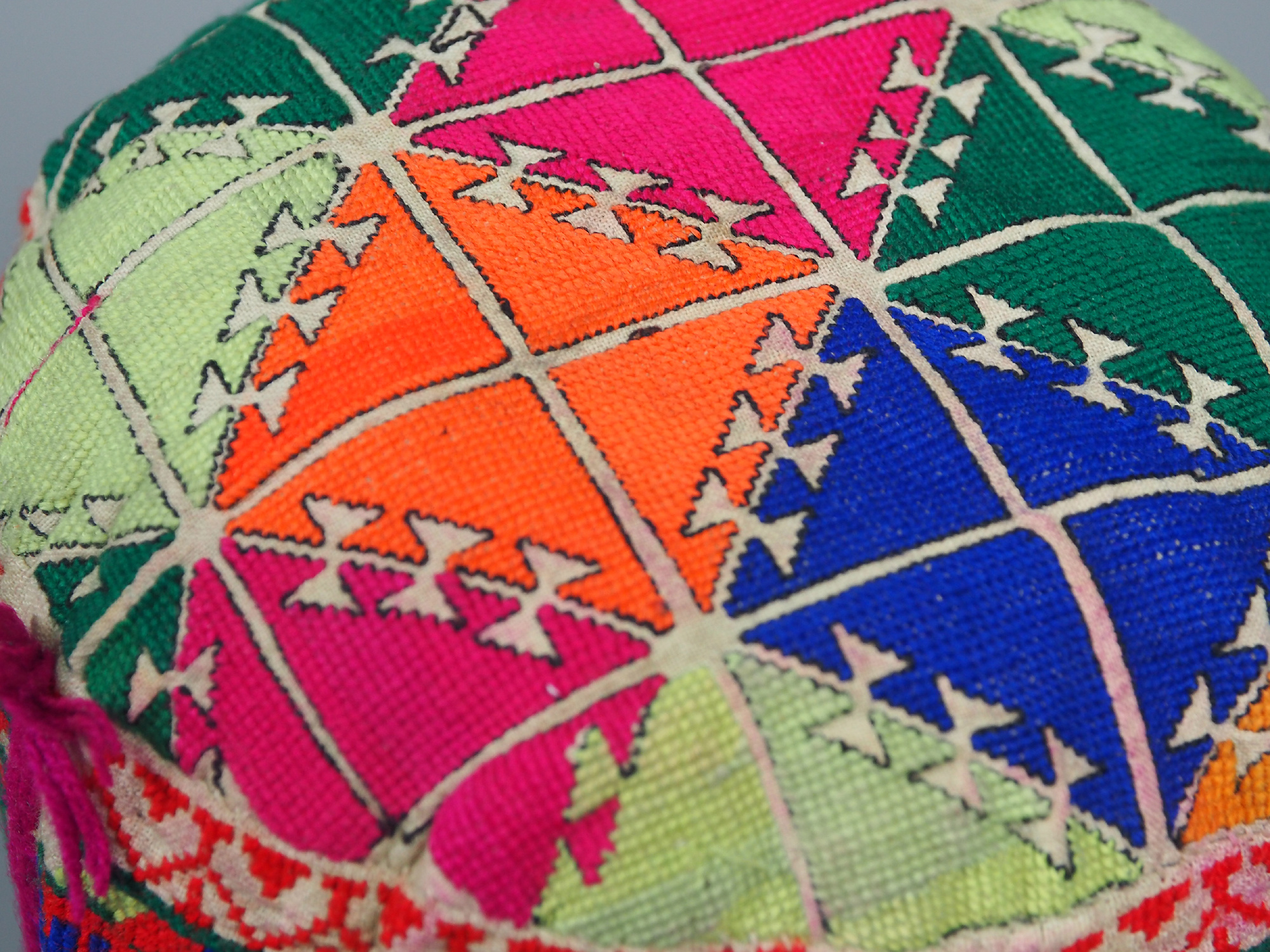 hand embroidered Women's Caps and Ceremonial Headdress from Gilgit-Baltistan No:21/N