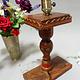 Antike orient handgearbeitete Lacquerware Massiv Holz Lampensockel Tischleuchte mit Vintage Fassung aus Afghanistan Pakistan 21/2