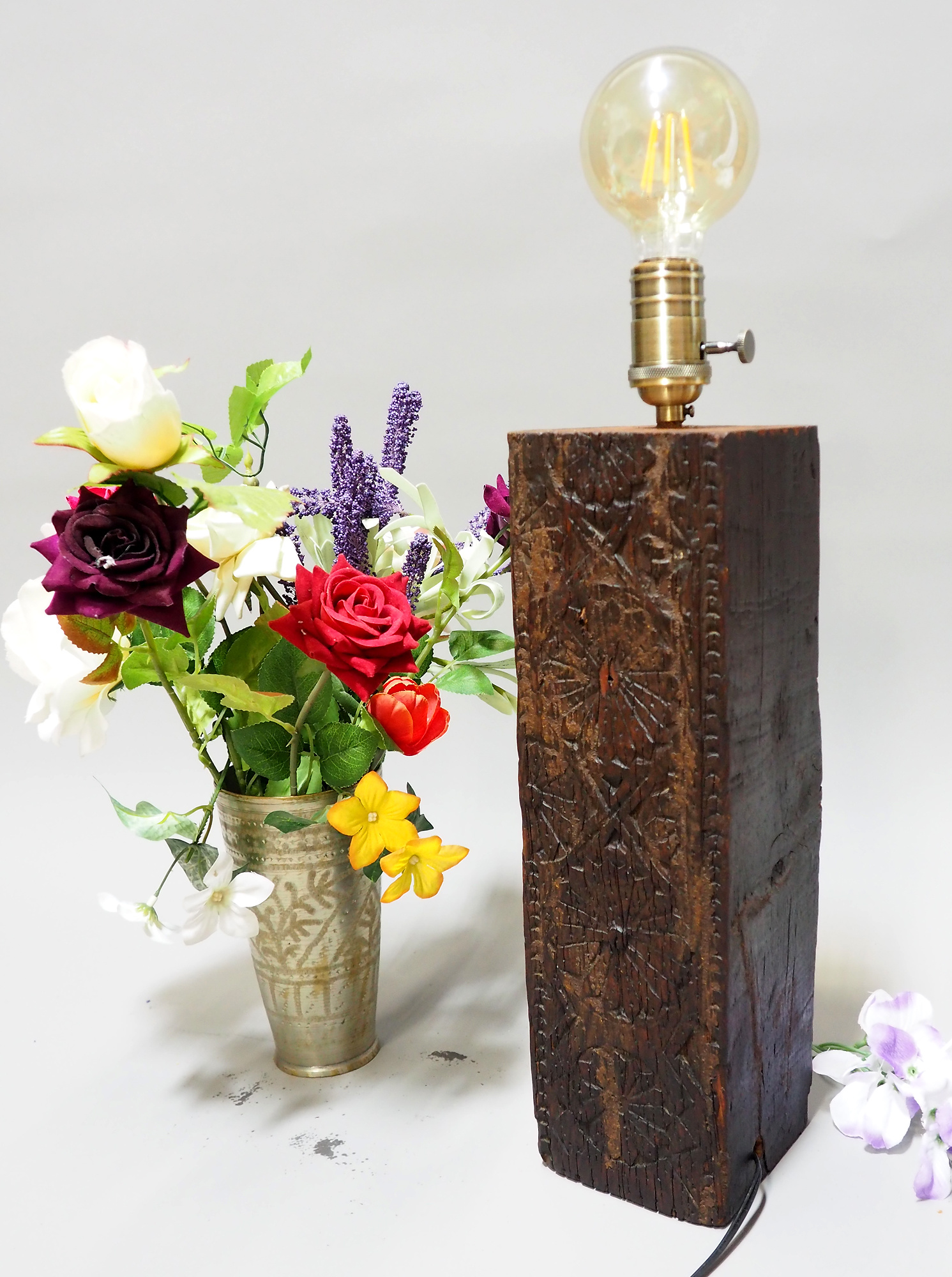 islamische antike orient massiv Holz Lampenfuß Lampensockel aus Nuristan Afghanistan Swat-tall pakistan NU2