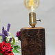 antique wooden table lamp lamp base from Nuristan Afghanistan Swat velly pakistan with brass lampholder. No:NU2