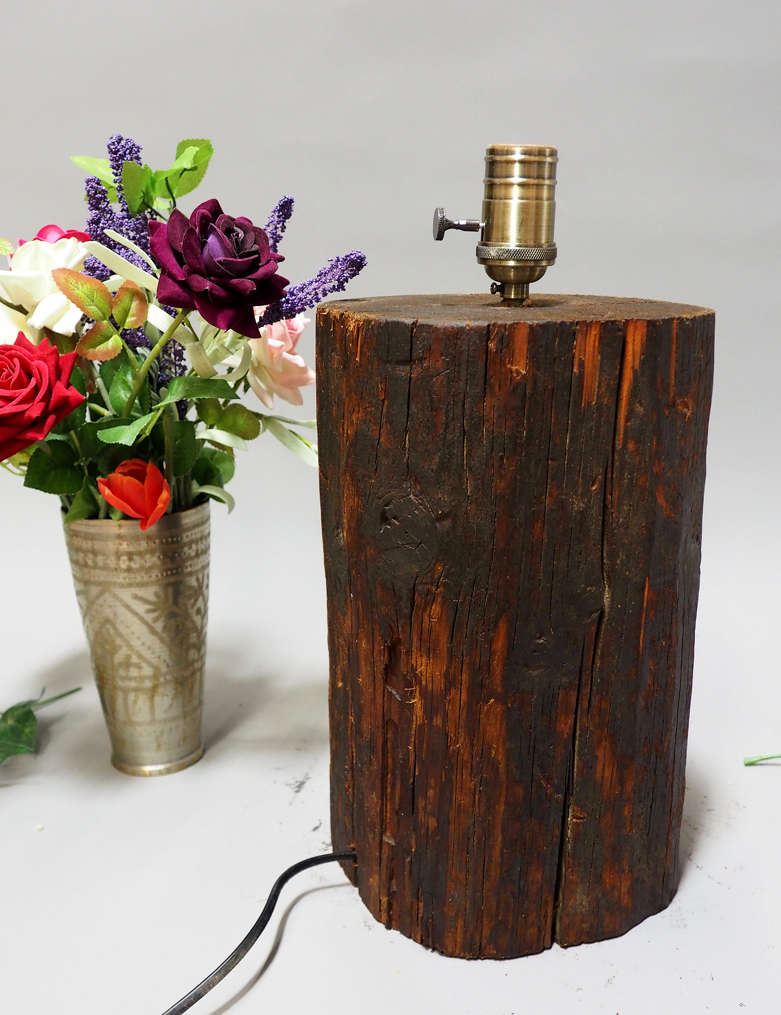 antique wooden table lamp lamp base from Nuristan Afghanistan Swat velly pakistan No:NU5