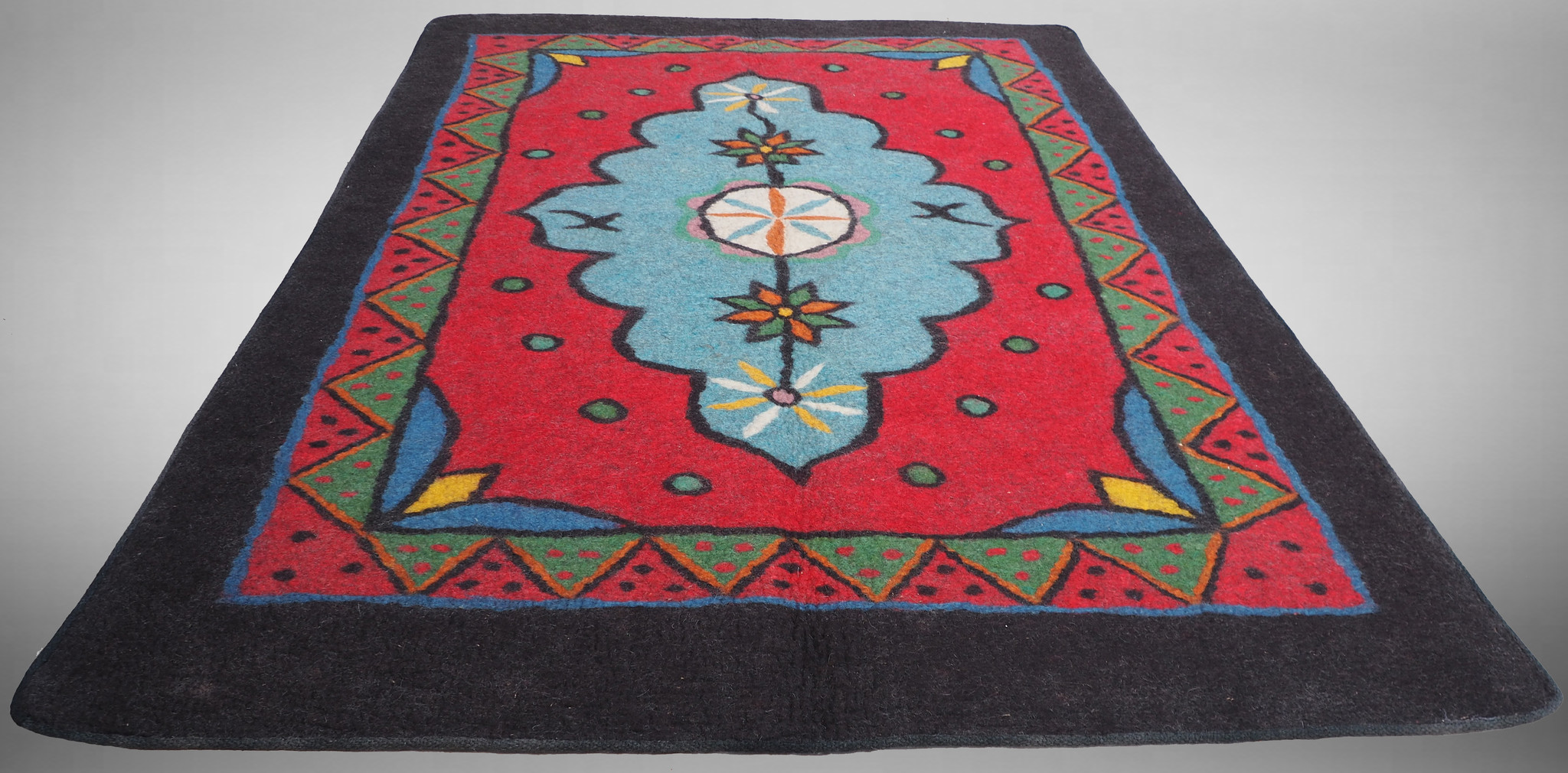 250x174 cm orient handgewebte Teppich Nomaden handgearbeitete Turkmenische nomanden Jurten Filzteppich Filz aus Nor Afghanistan shyrdak N698
