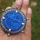 antique enamelled Multan Sindhi Jewellery Ring Lapiss lazuli seal stone No:WL21B