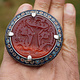 antique enamelled Multan Sindhi Jewellery Ring  carnelian seal stone No:WL21E