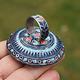 antique enamelled Multan Sindhi Jewellery Ring Lapiss lazuli seal stone No:WL21F