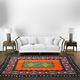 246x167 cm  tribal Nomadic Turkmen nomads Vintage felt rug rug from Afghanistan feltrug carpet shyrdak No-700