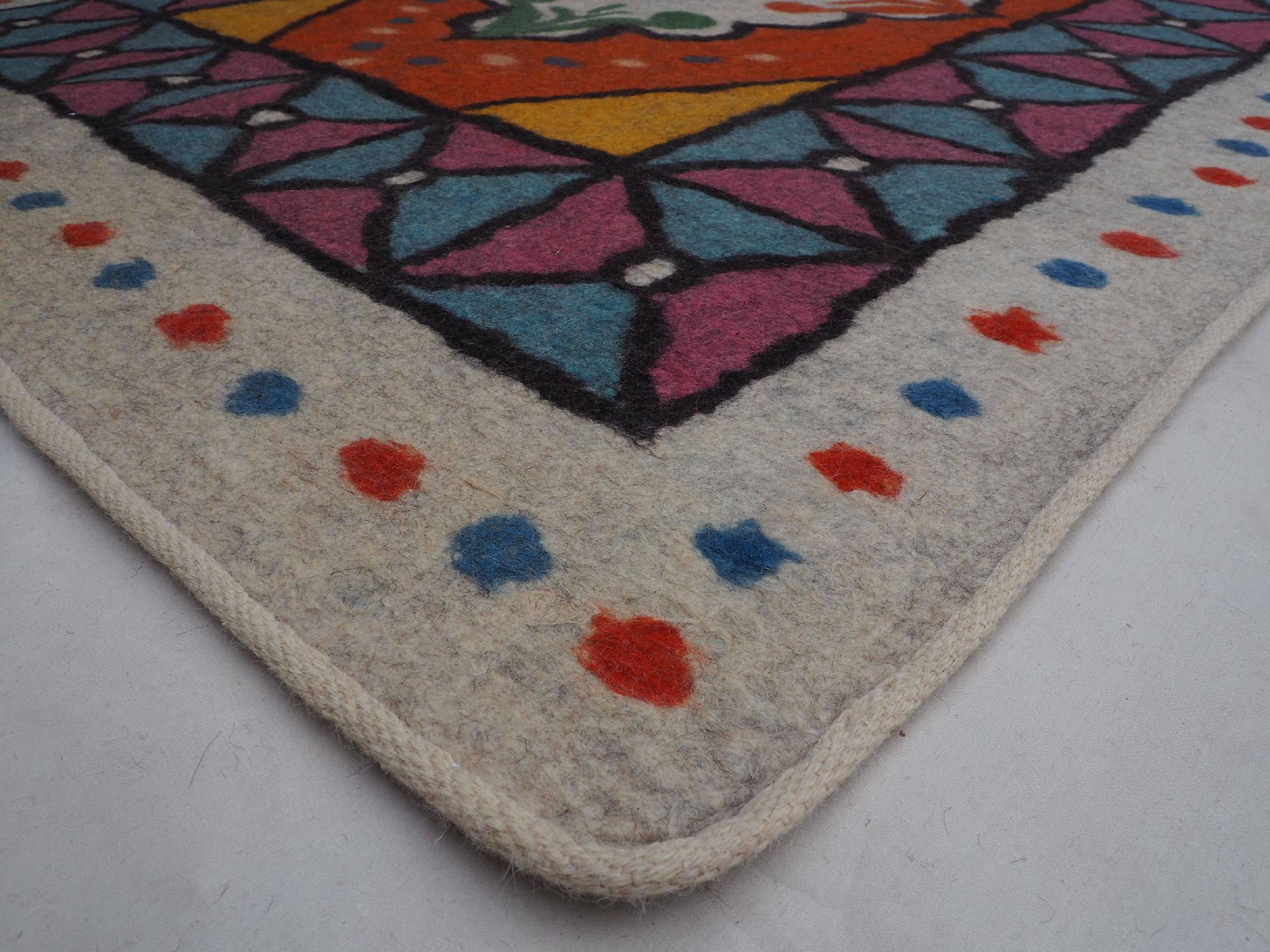202x149 cm orient handgewebte Teppich Nomaden handgearbeitete Turkmenische nomanden Jurten Filzteppich Filz aus Nor Afghanistan shyrdak N697