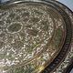 60 cm ottoman orient Islamic  Hammer Engraved Brass table Tray Syria Morocco, Egypt Mamluk Cairoware with arabic calligraphy 21/E