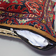 rare Hand knotted Turkmen wedding carpet cushion orient nomad rug seat Bohemian Afghanistan pillow  BS/2