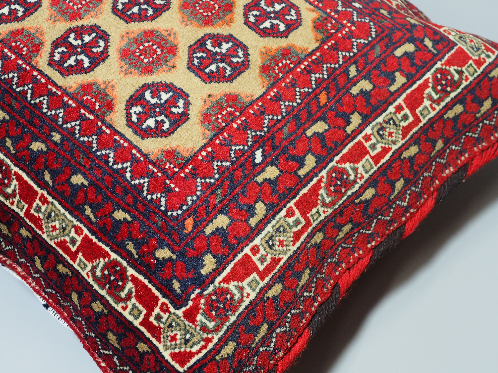 77x52 cm rare Hand knotted Turkmen wedding carpet cushion orient nomad rug seat Bohemian Afghanistan pillow  BS/3