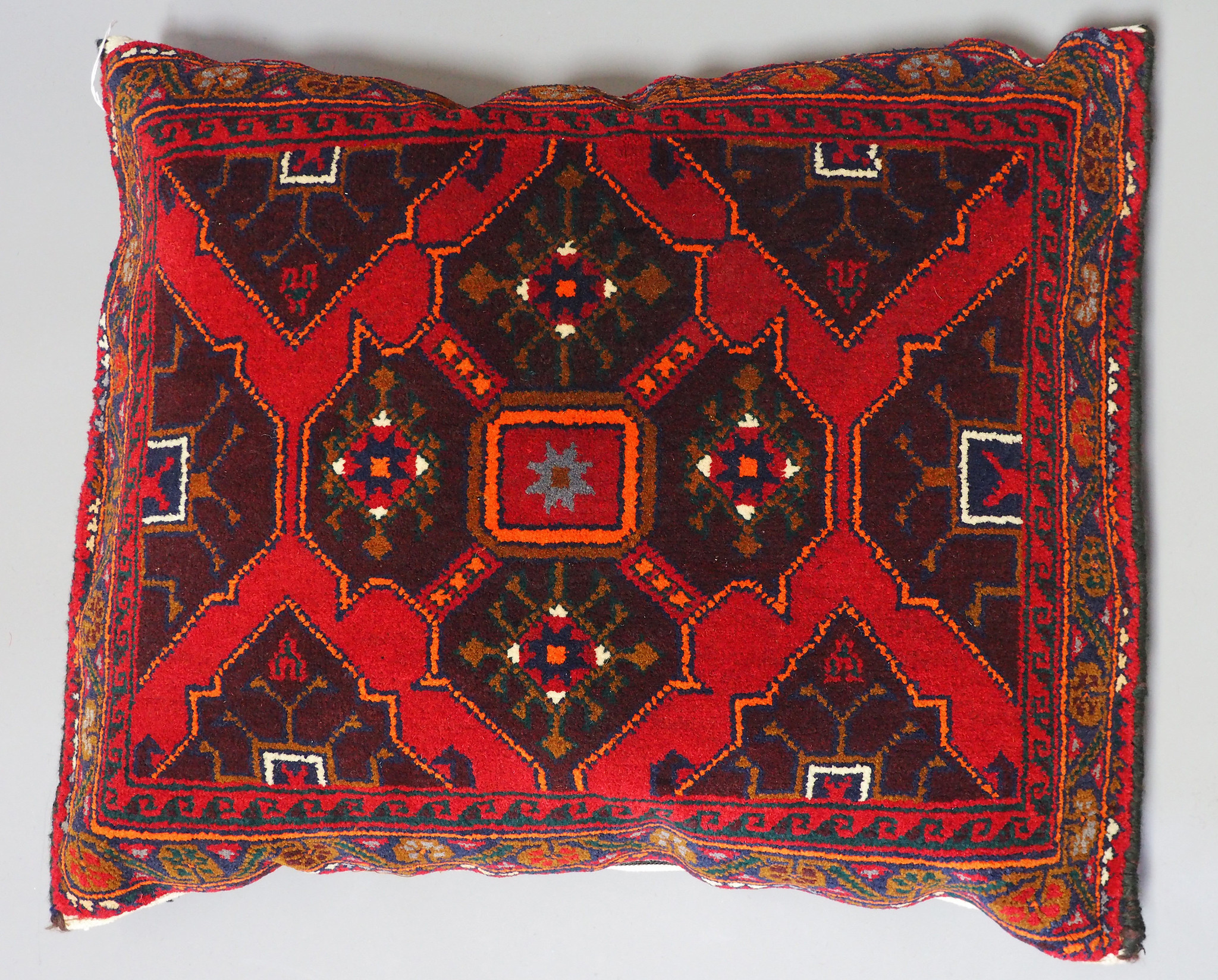 rare Hand knotted Turkmen wedding carpet cushion orient nomad rug seat Bohemian Afghanistan pillow  BS/6