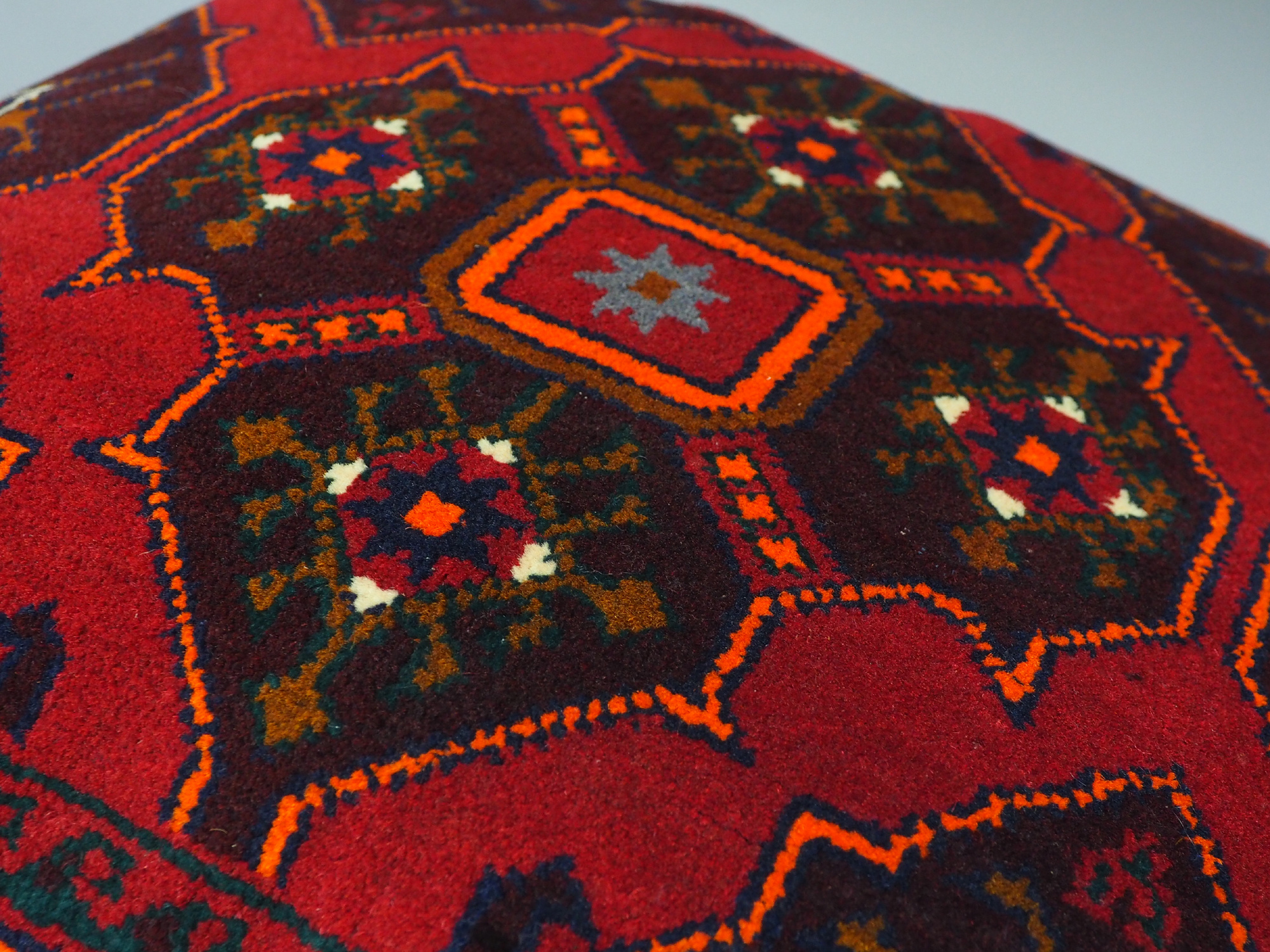 orient Afghan Tukmeische Teppich nomaden Handgeknüpft wollen Hochzeit Kissen sitzkissen bodenkissen cushion 1001-nacht aus Afghanistan BS/6