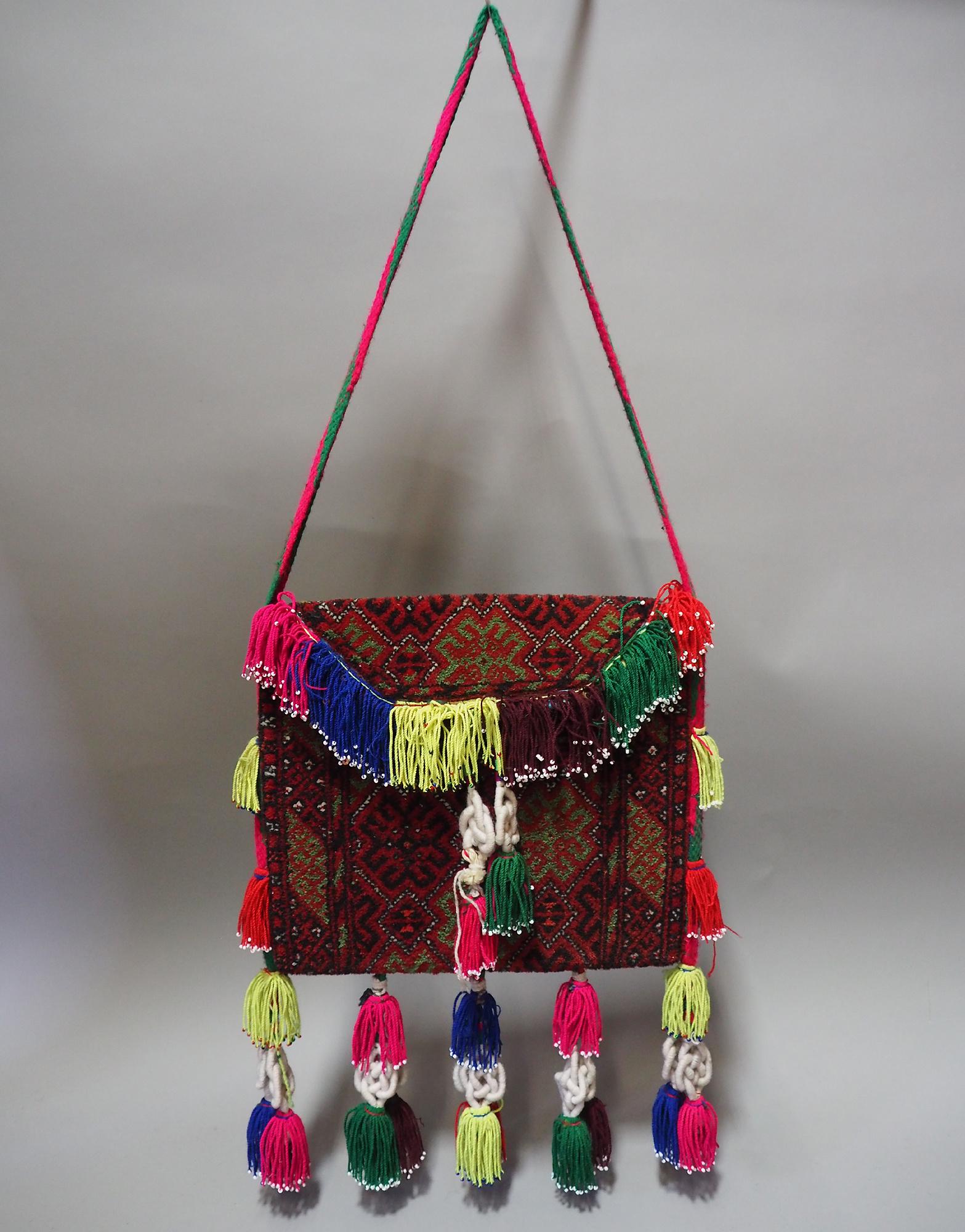 orient Afghan Tukmeische Teppich nomaden Handgeknüpft wollen Hochzeit Tasche handtasche Schultertasche tragetasche 1001-nacht Afghanistan
