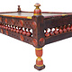 116x60 cm rare Antique solid wood orient tea table sidtable coffee table living room table from Afghanistan Pakistan No:WL/D