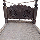 antique 19th century orient vintage cedar wood Chair bed from Nuristan Afghanistan / Swat Valley-Pakistan Charpoi