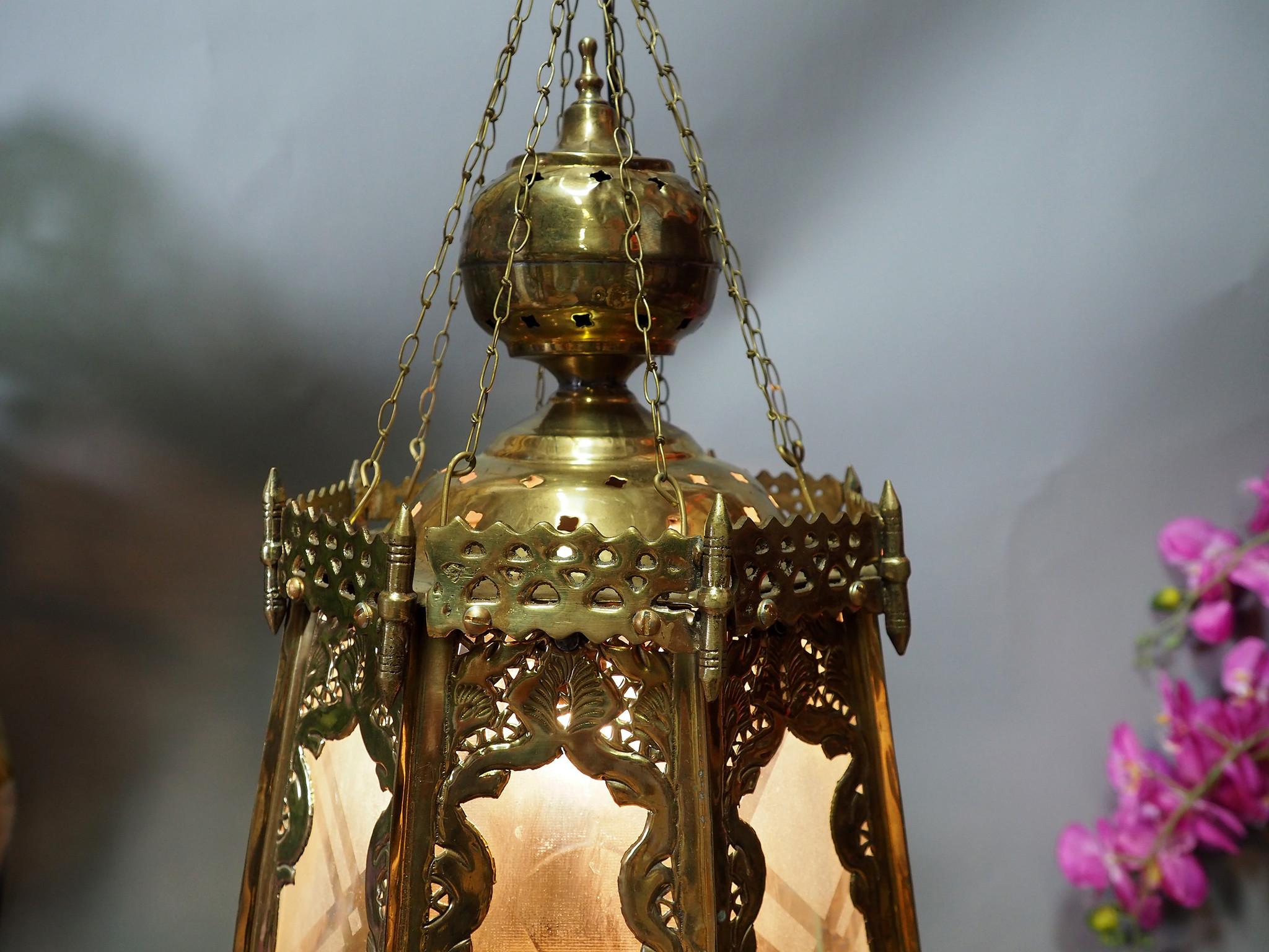 orientalische massiv Messing Decken Hängende Lampe Islamische Decken Lampe Moschee Lampe aus Afghanistan PK/A
