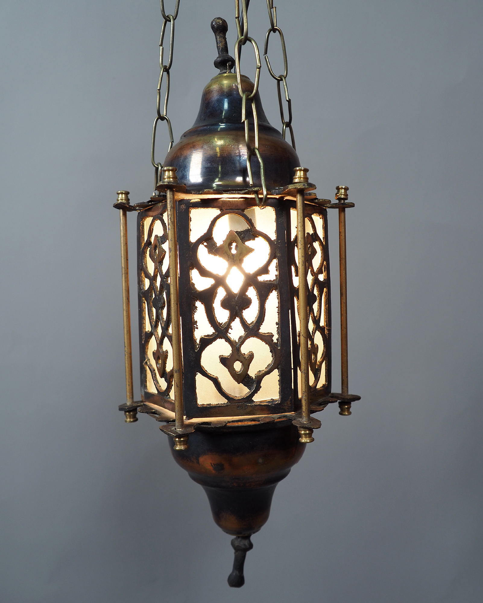 Egyptian Morocco Middle Eastern / Islamic Brass Hanging Mosque Lamp  Ceiling lamp from Afghanistan 21/2
