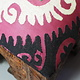 antik-look hand carved wooden vintage suzani Stoll chair from Afghanistan No:C