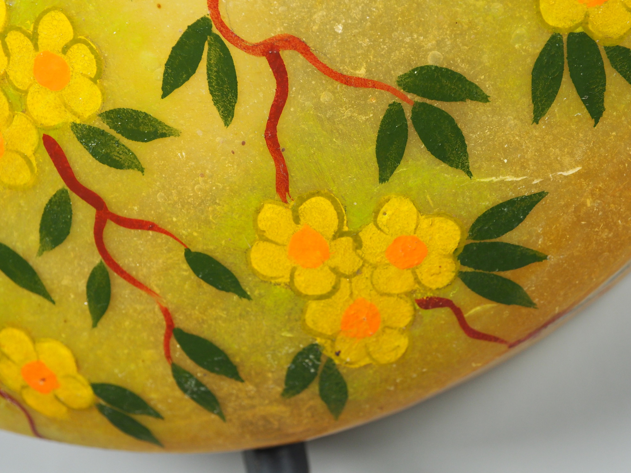 oriental hand made  Camel Skin leather  wall lamp from  Multan Pakistan W/2