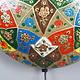 orientalische handbemalte Lampe Kamelleder  Wandlampe  aus Multan Pakistan W/4