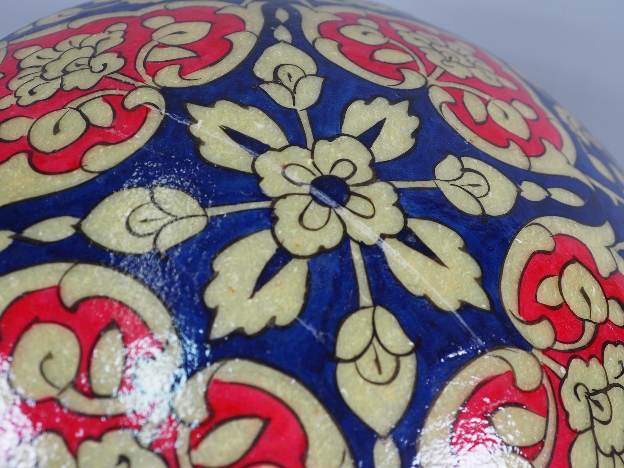 oriental hand made  Camel Skin leather  wall lamp from  Multan Pakistan W/5