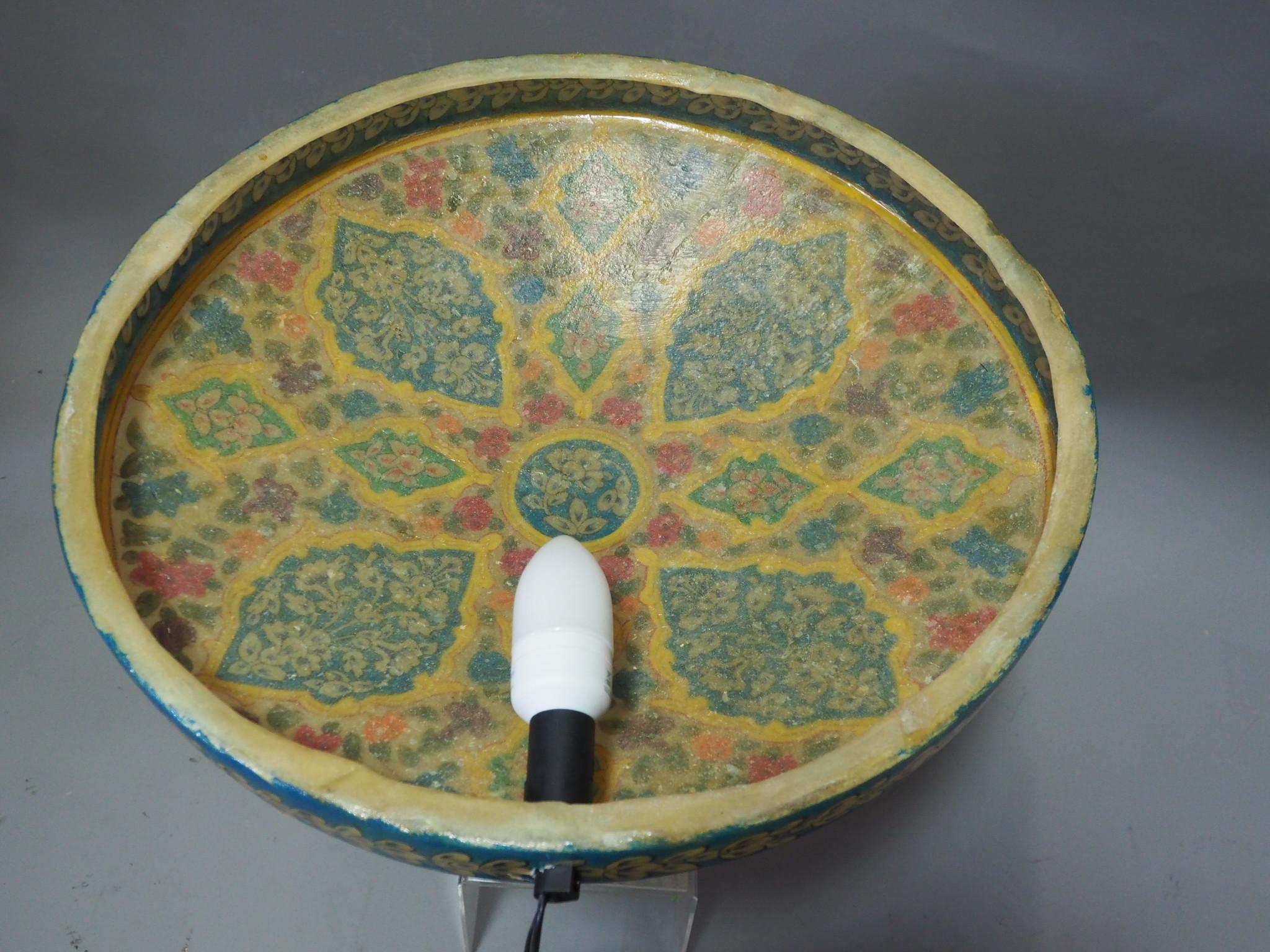 oriental hand made  Camel Skin leather  wall lamp from  Multan Pakistan W/6