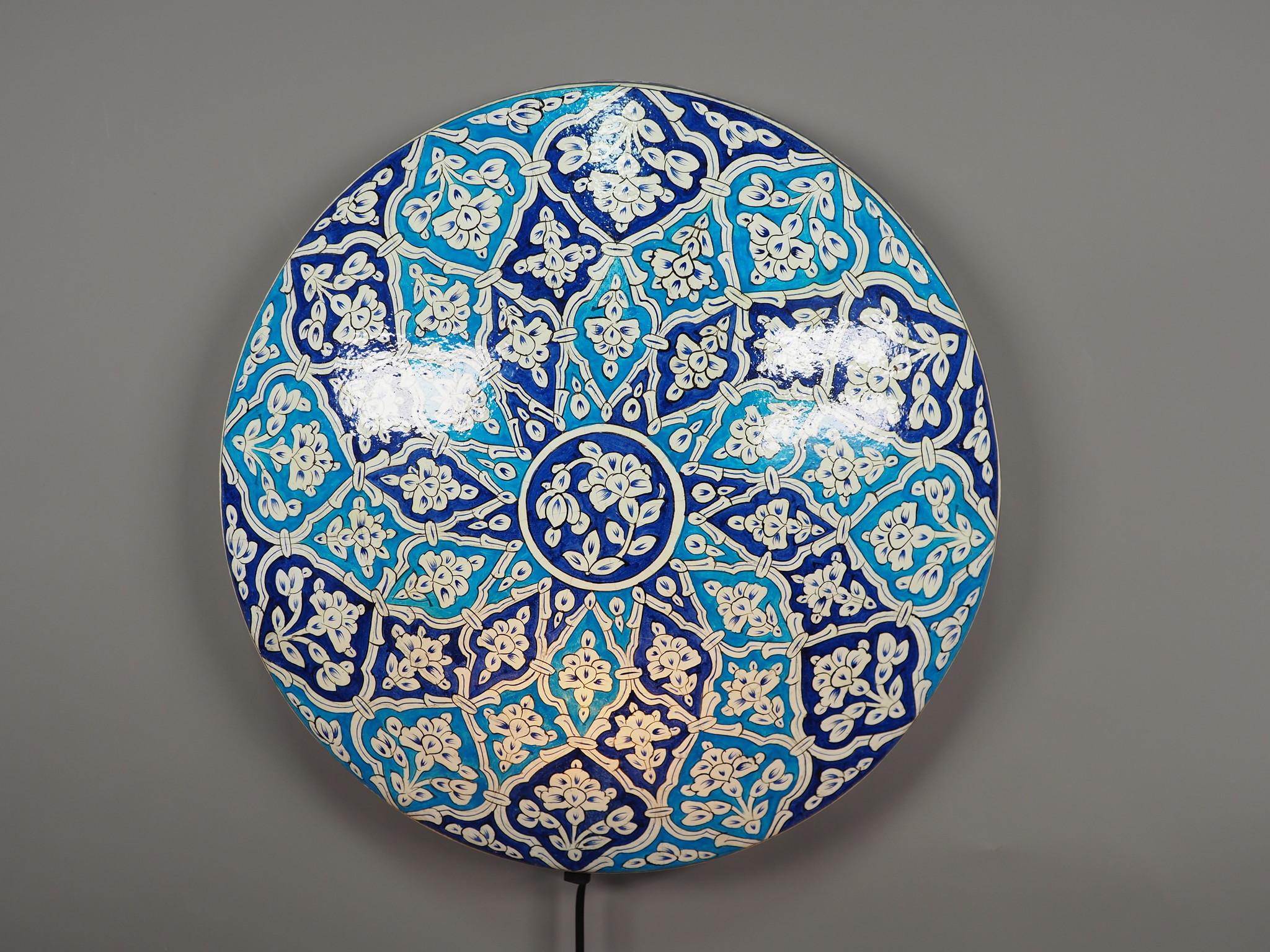 orientalische handbemalte Lampe Kamelleder  Wandlampe  aus Multan Pakistan W/7