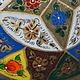 oriental hand made  Camel Skin leather  wall lamp from  Multan Pakistan W/1
