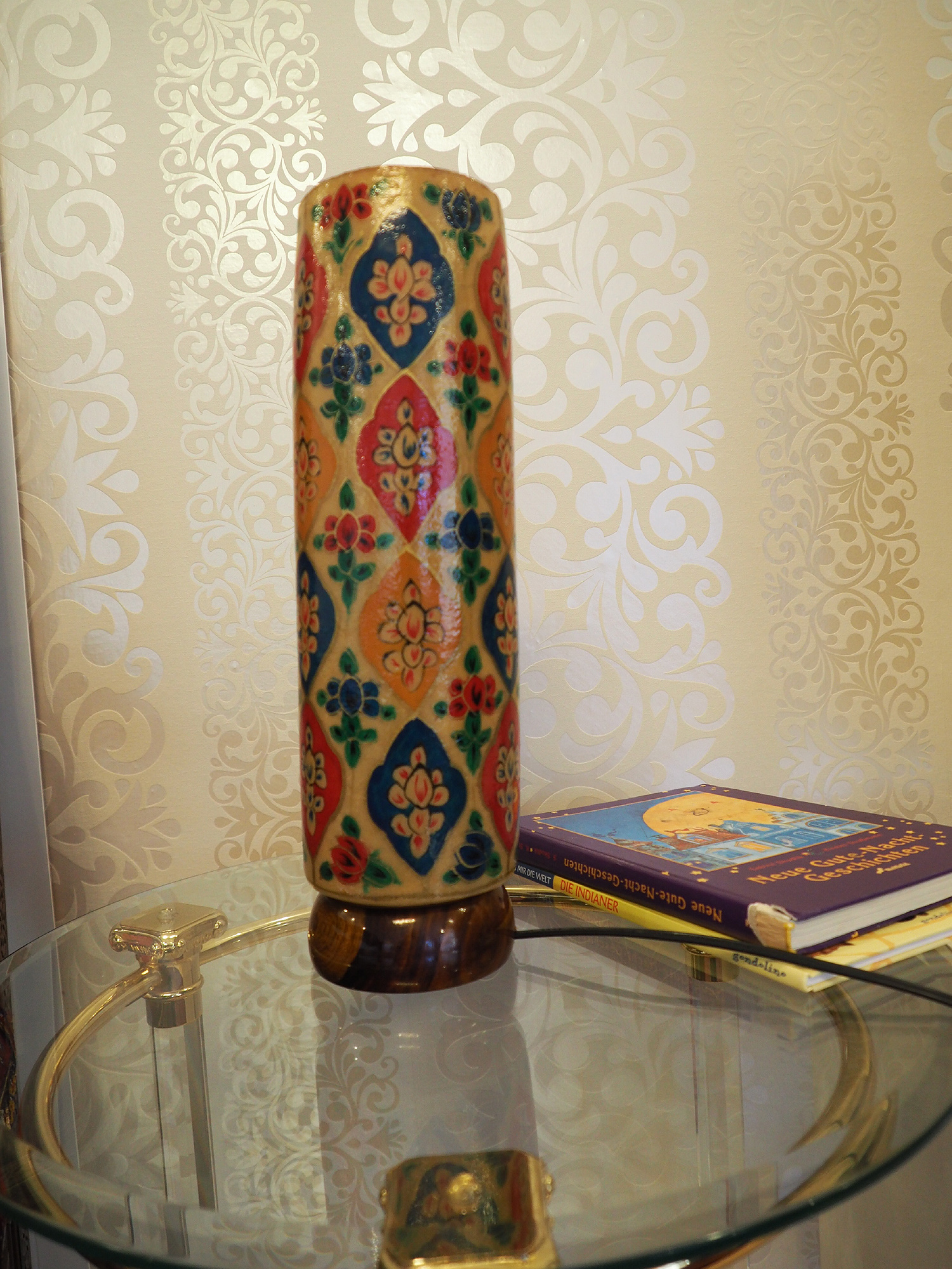 Camel Skin leather  table lamp IT/2