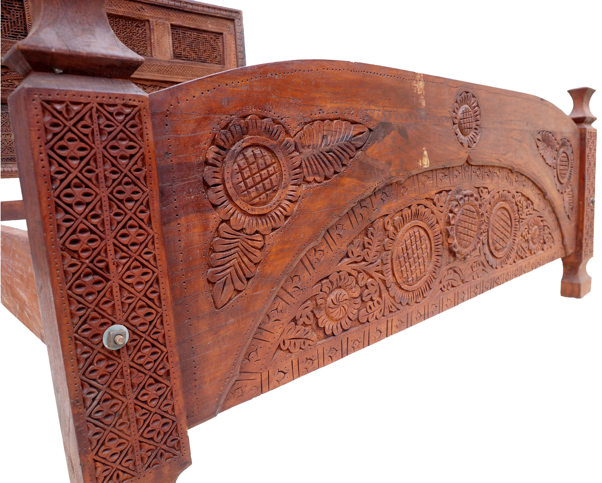 Antique double bed  swat valley No:WL/B