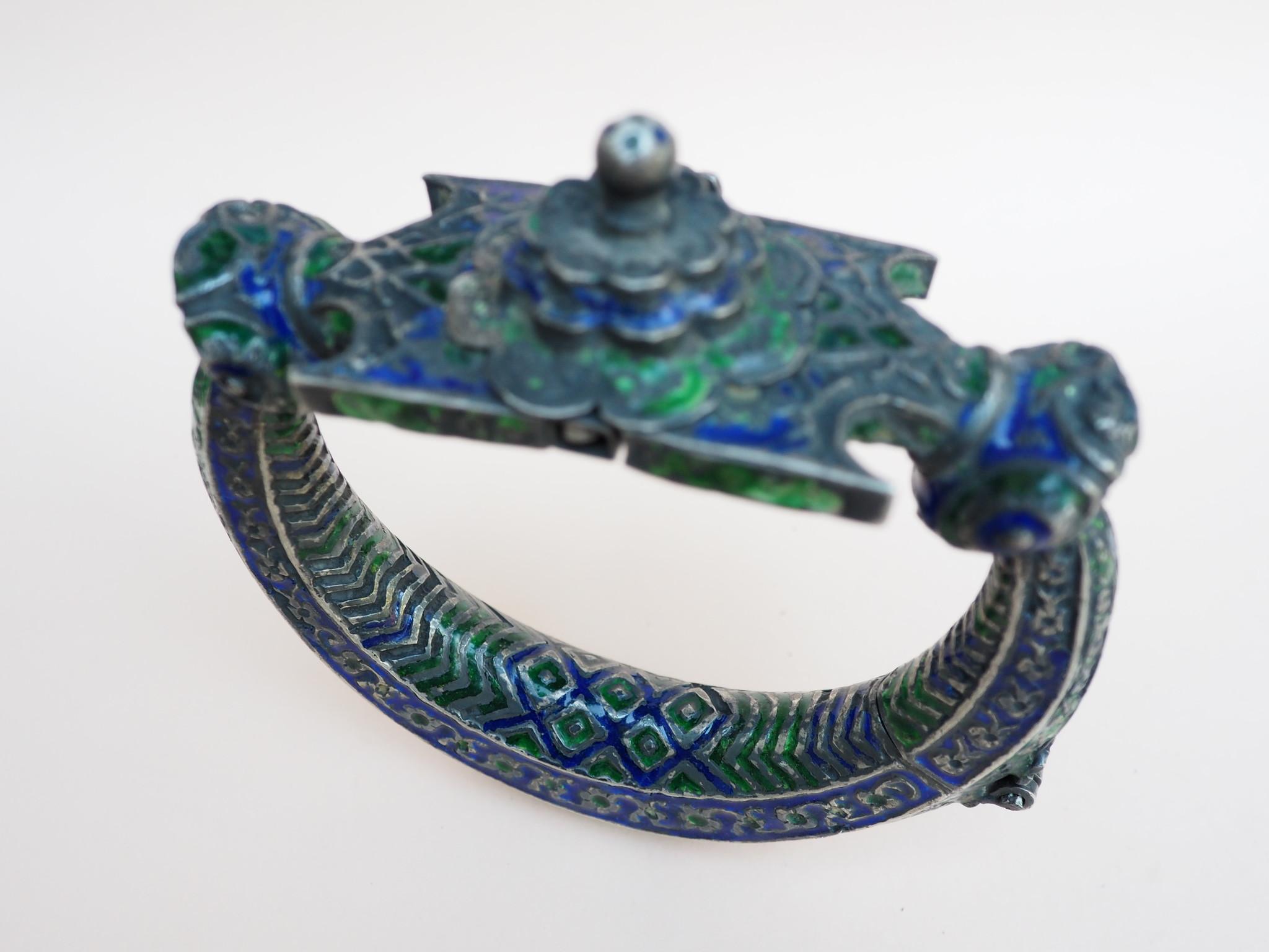 Antique handmade vintage Enamelled and Gold cuff Bracelet Multan and Sindhi Pakistan Jhanjhar No-21/WL  - Copy