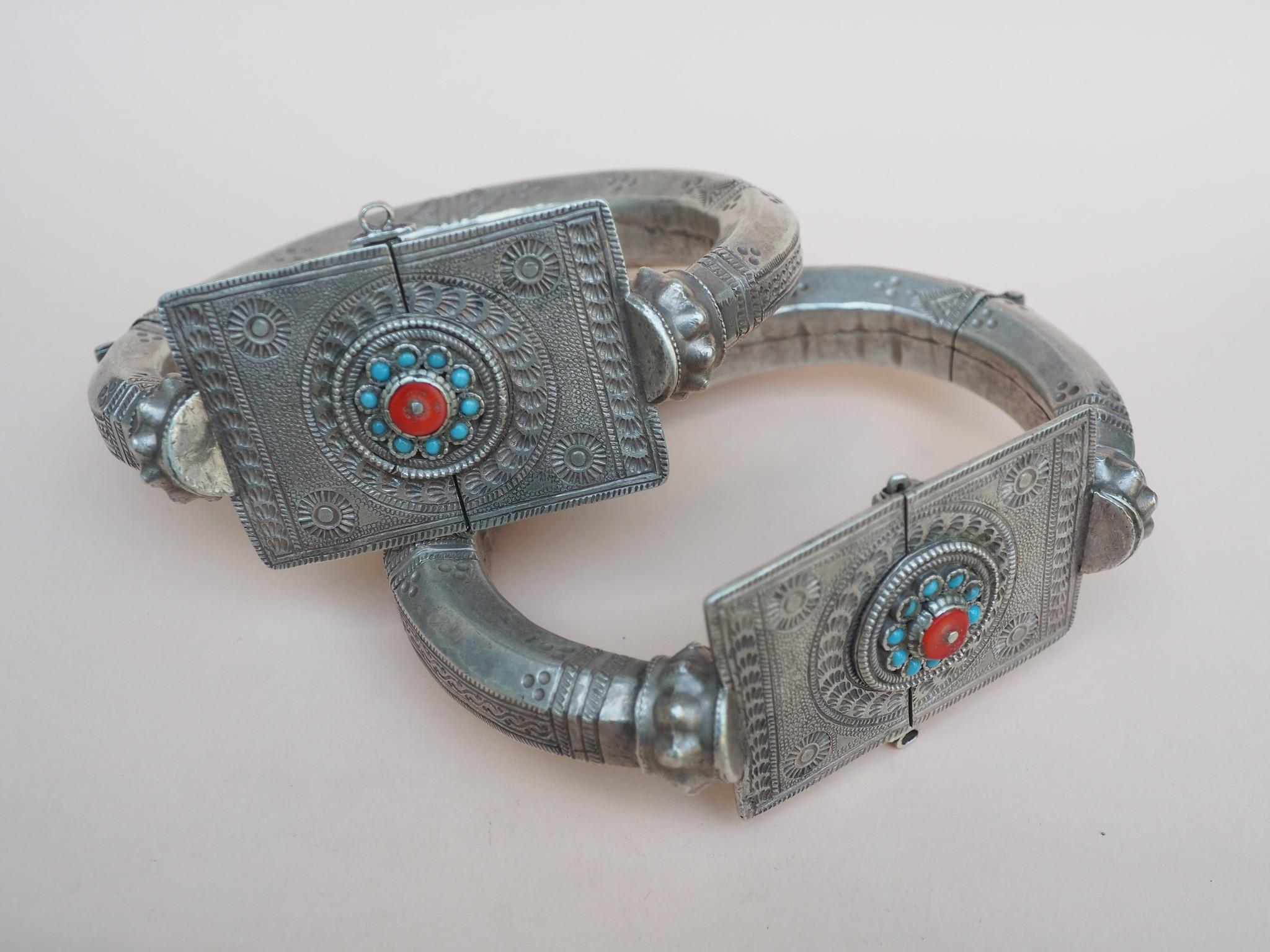 Antique handmade vintage Enamelled and Gold cuff Bracelet Multan and Sindhi Pakistan Jhanjhar No-21/WL  - Copy - Copy