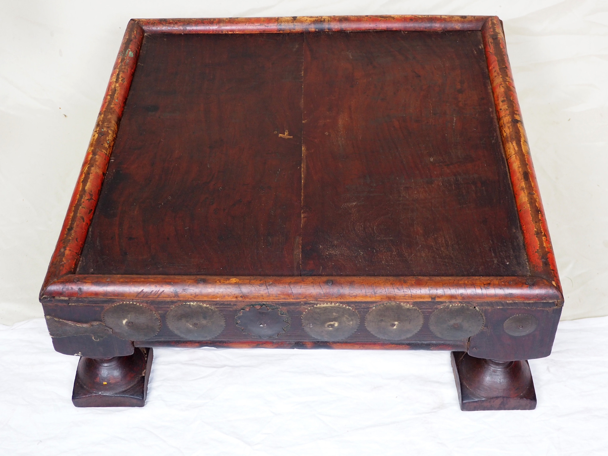 60x60 cm Very rare Antique solid wood orient tea table sidtable from Afghanistan Pakistan No:21/1