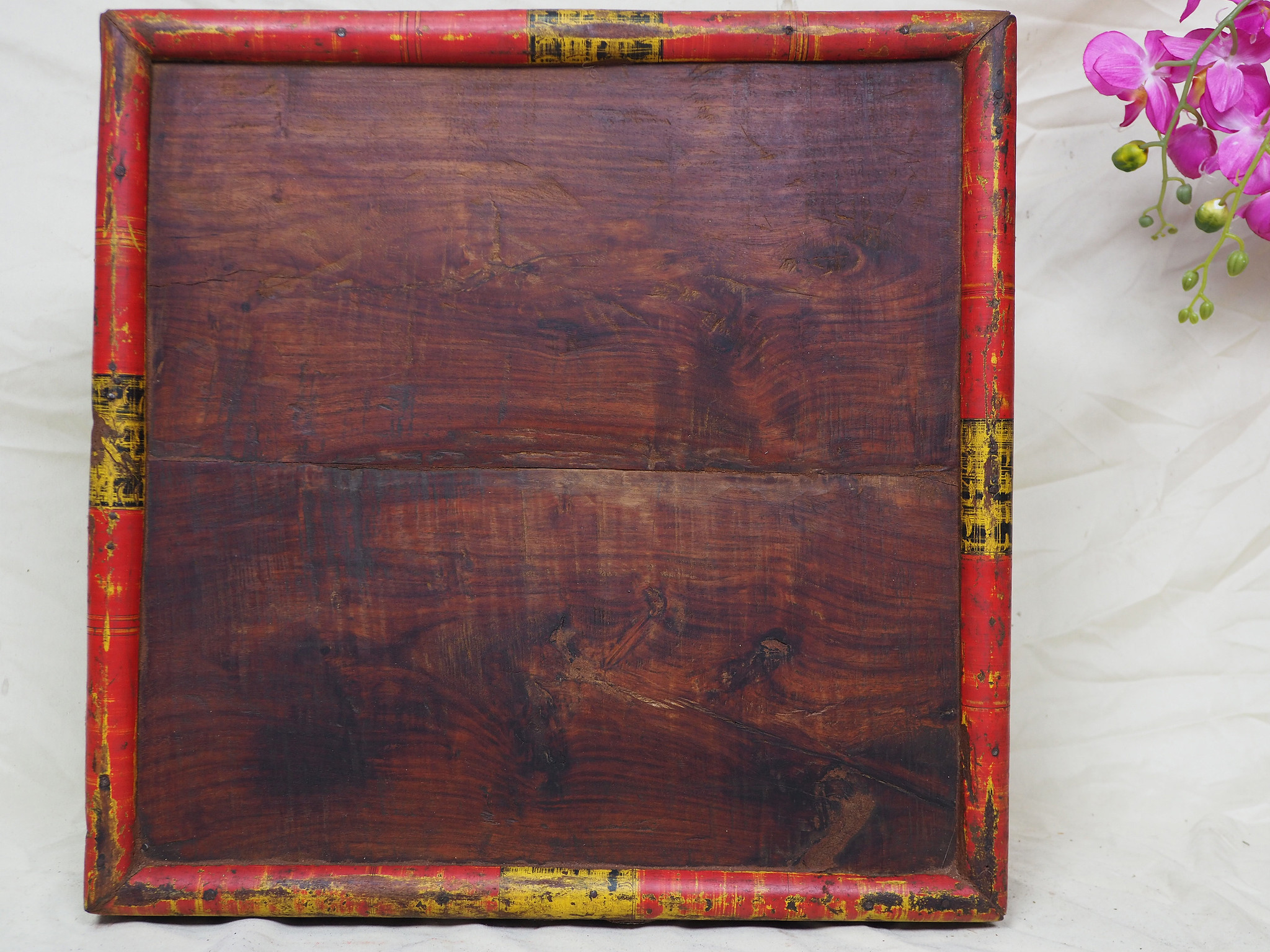 53x53 cm Very rare Antique solid wood orient tea table sidtable from Afghanistan Pakistan No:21/4