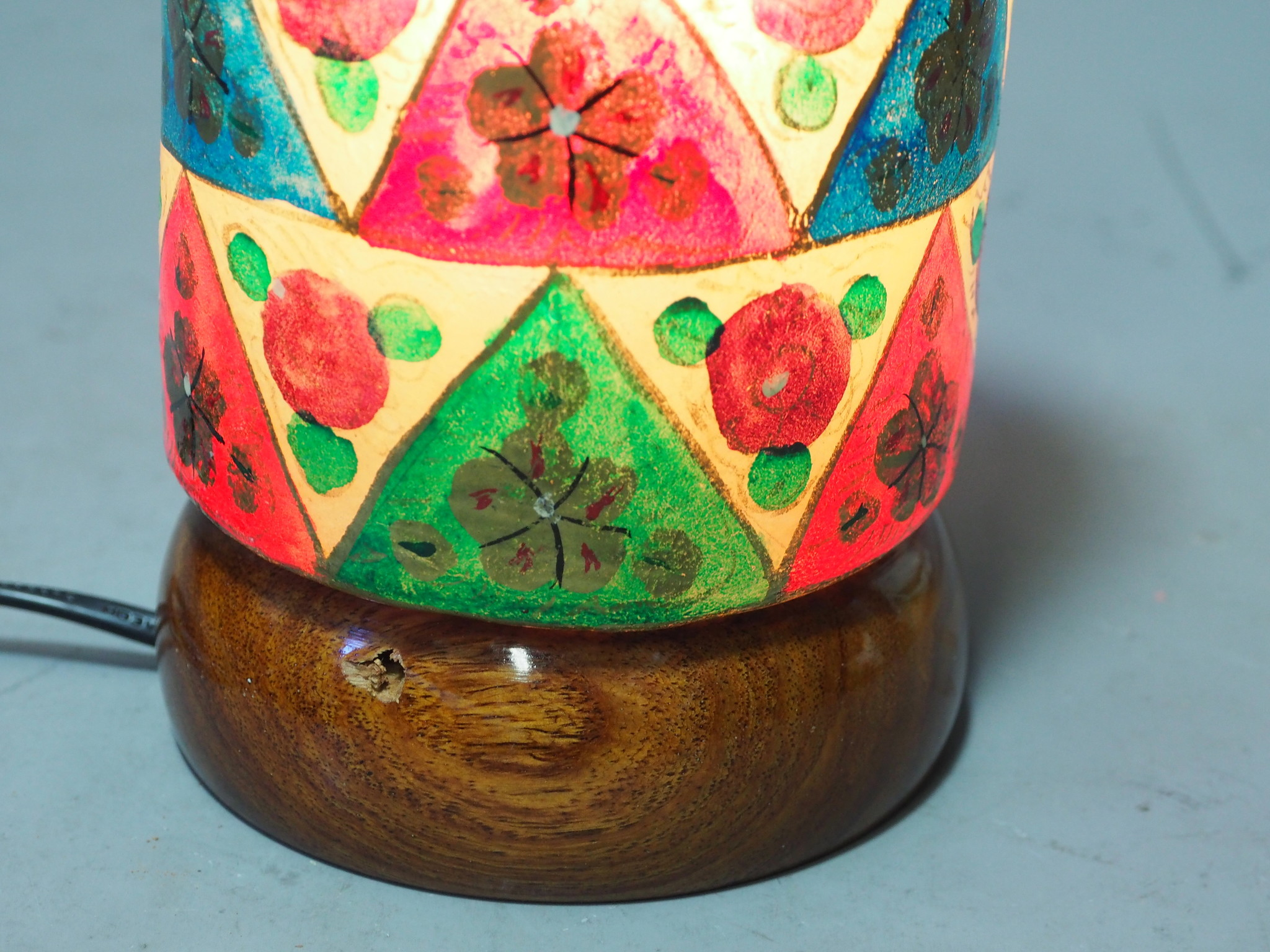 Camel Skin leather  table lamp IT/17