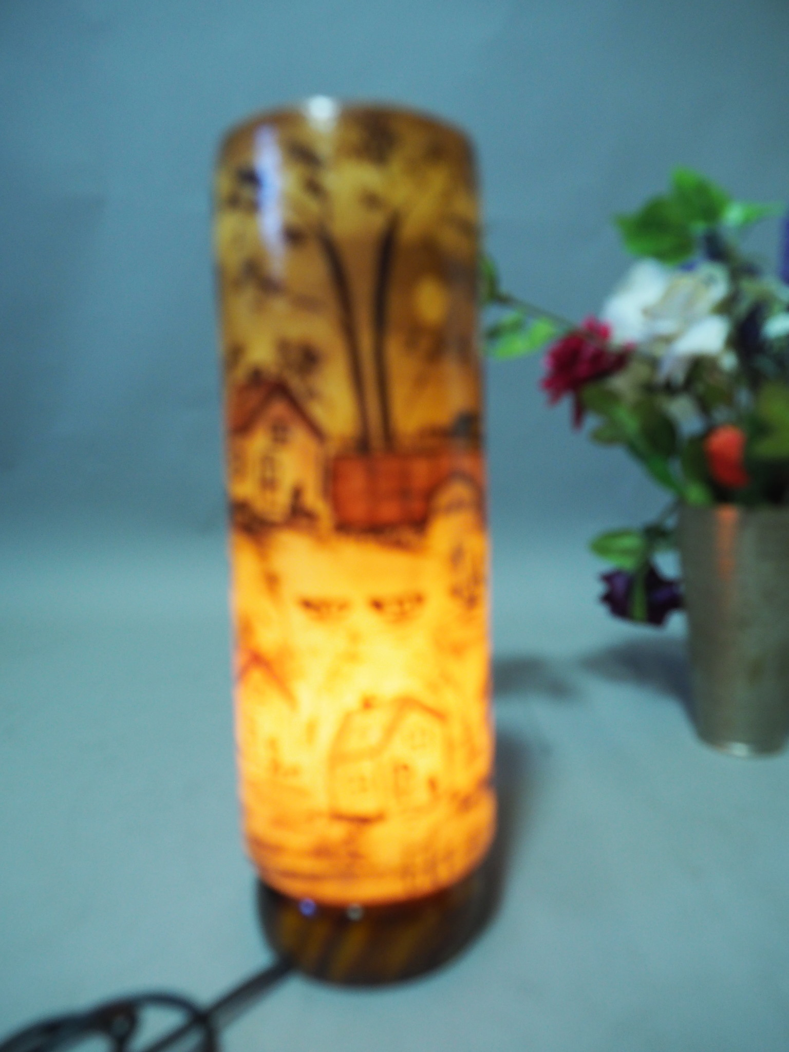 Camel Skin leather  table lamp IT/14