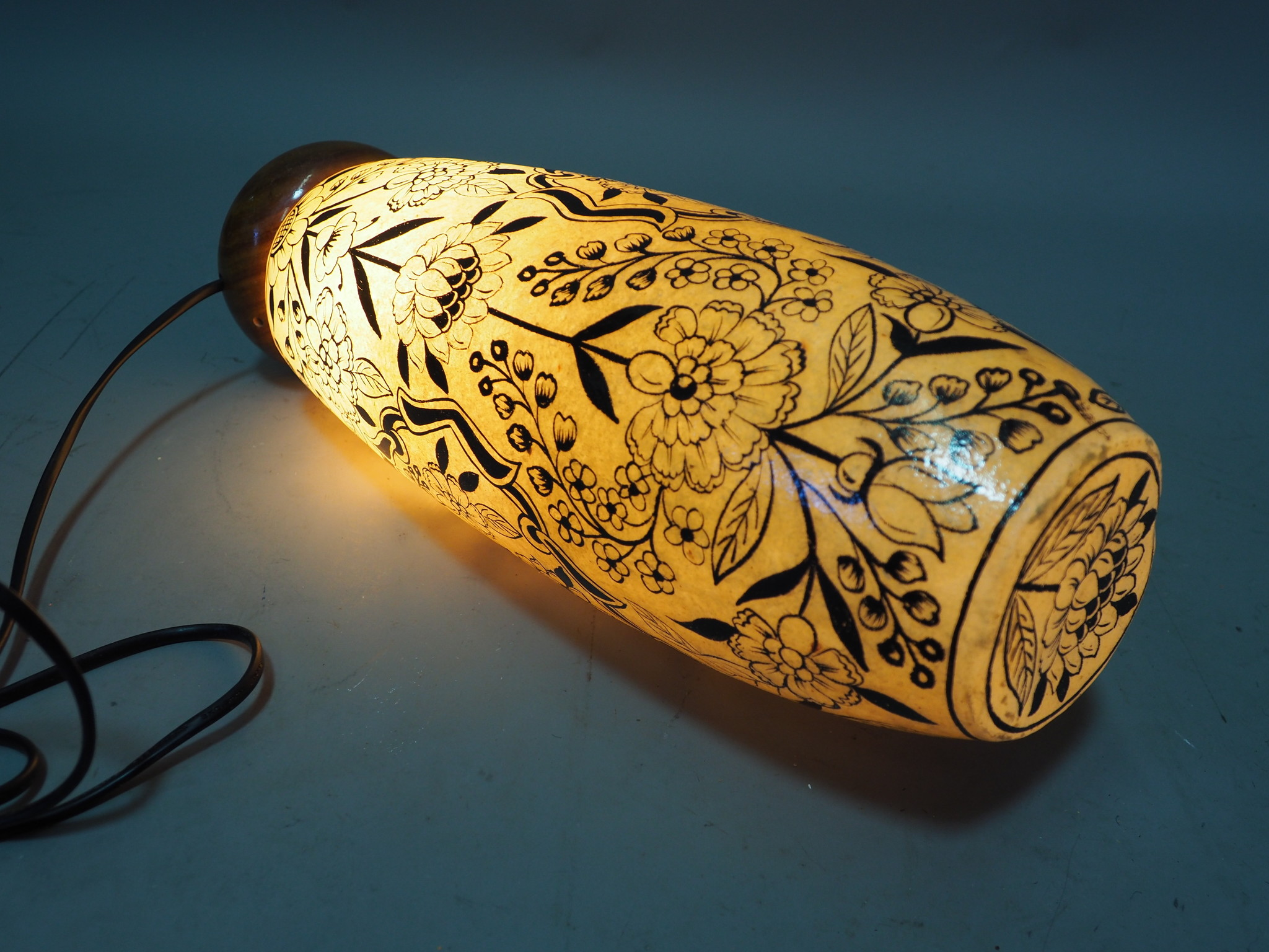 Camel Skin leather  table lamp IT/9