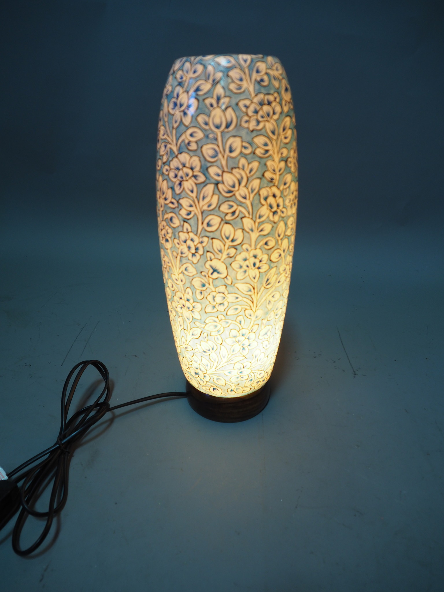 Camel Skin leather  table lamp IT/7