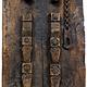 Antique orient vintage carved wooden door panel Door from Nuristan Afghanistan  Swat valley Pakistan 19/1A