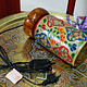 Camel Skin leather  table lamp IT/24