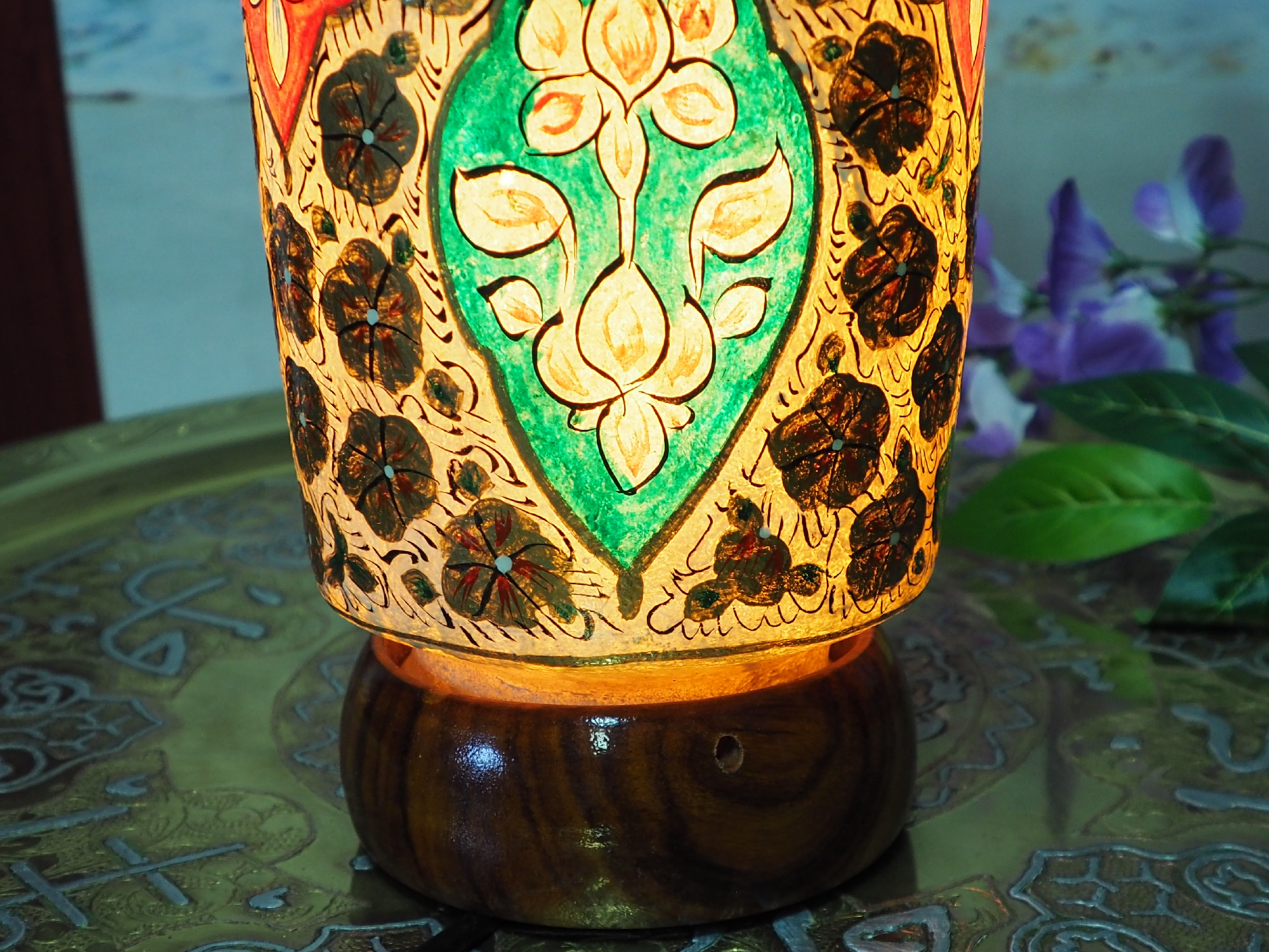 Camel Skin leather  table lamp IT/25
