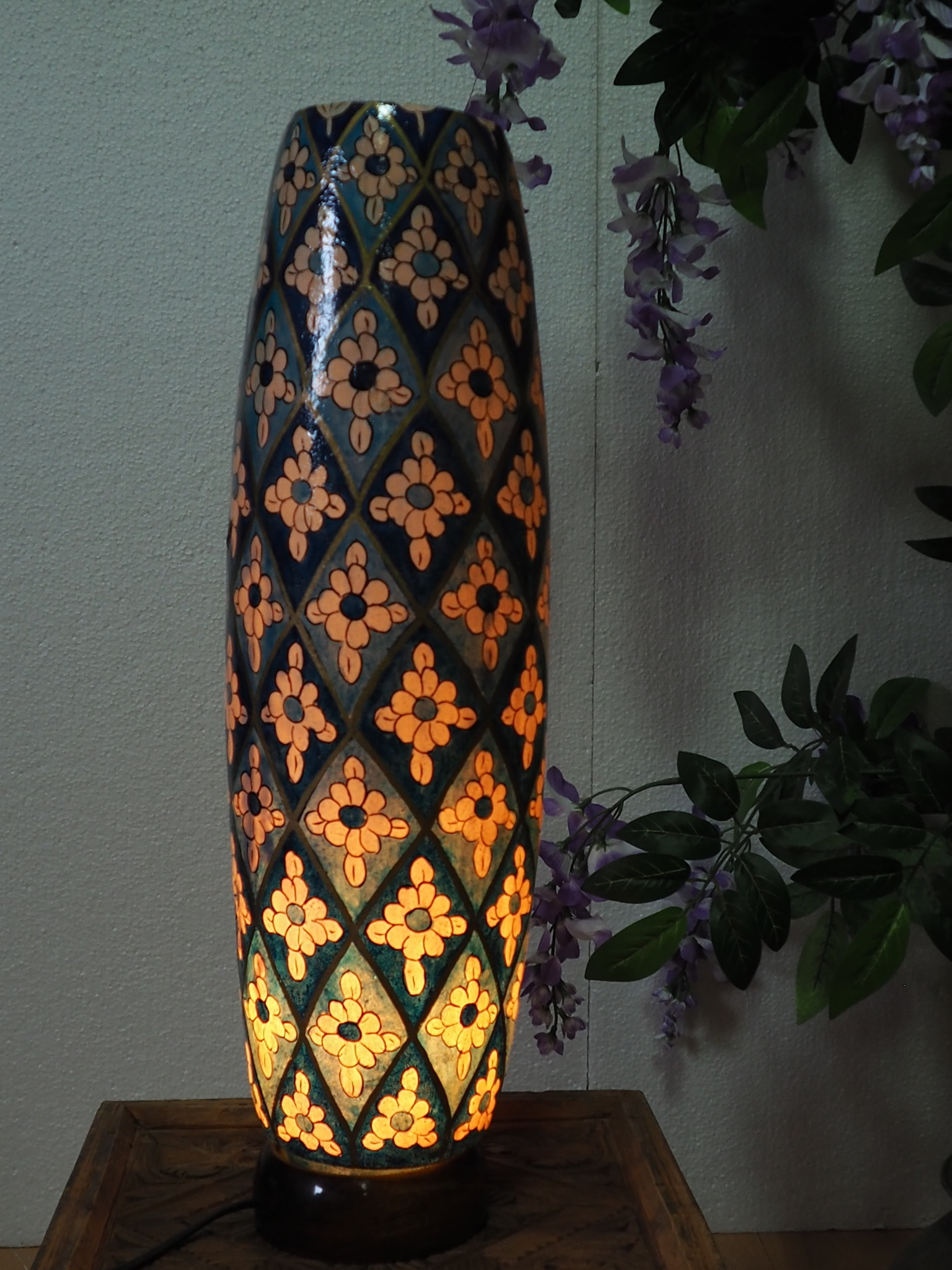 Camel Skin leather  table lamp IT/39