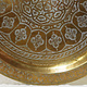 80 cm Antique ottoman orient Islamic  Hammer Engraved Brass table Tea table side table Tray from Afghanistan  No-21/L