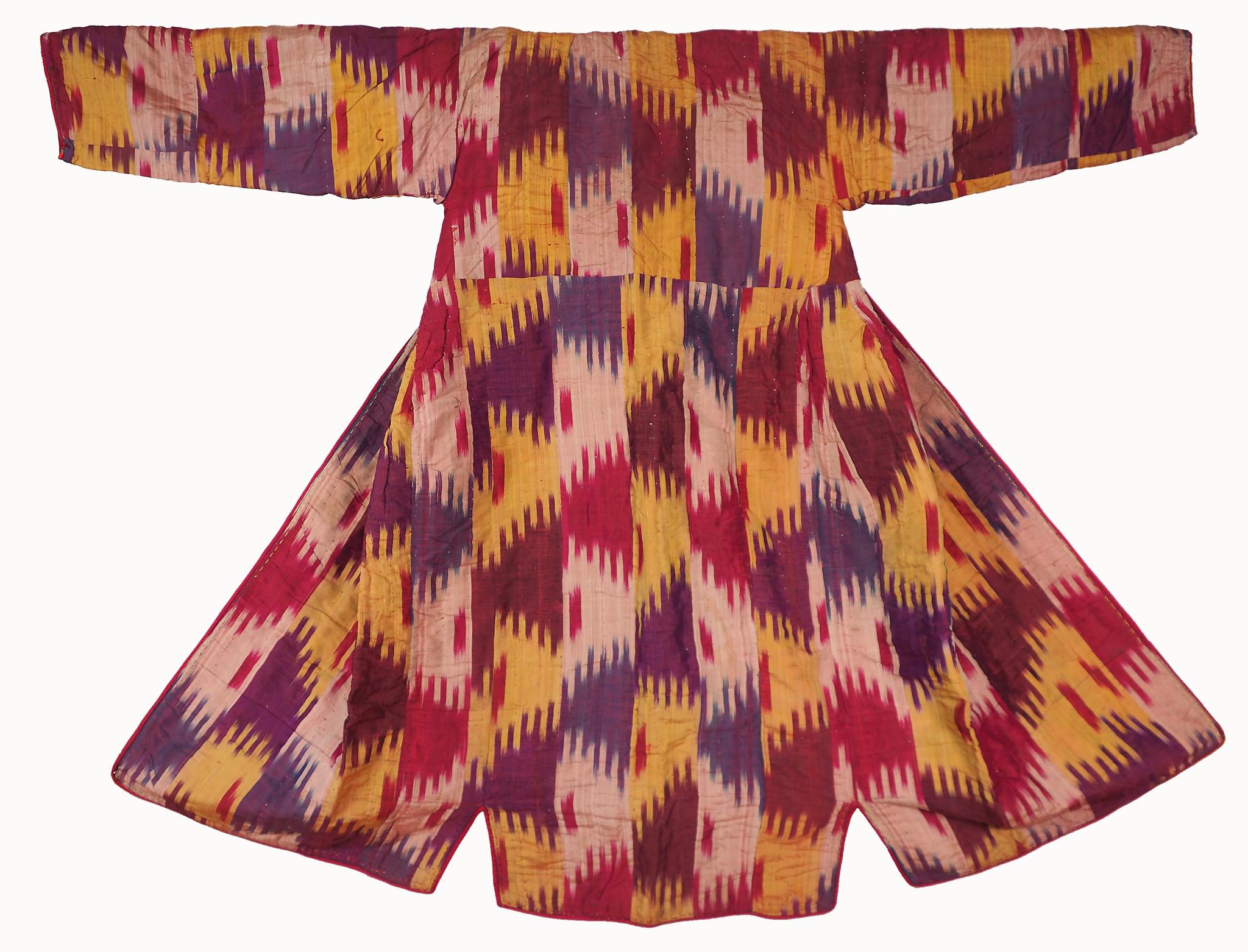 antike Usbekische Ikat Frauen Mantel Nr:21/5