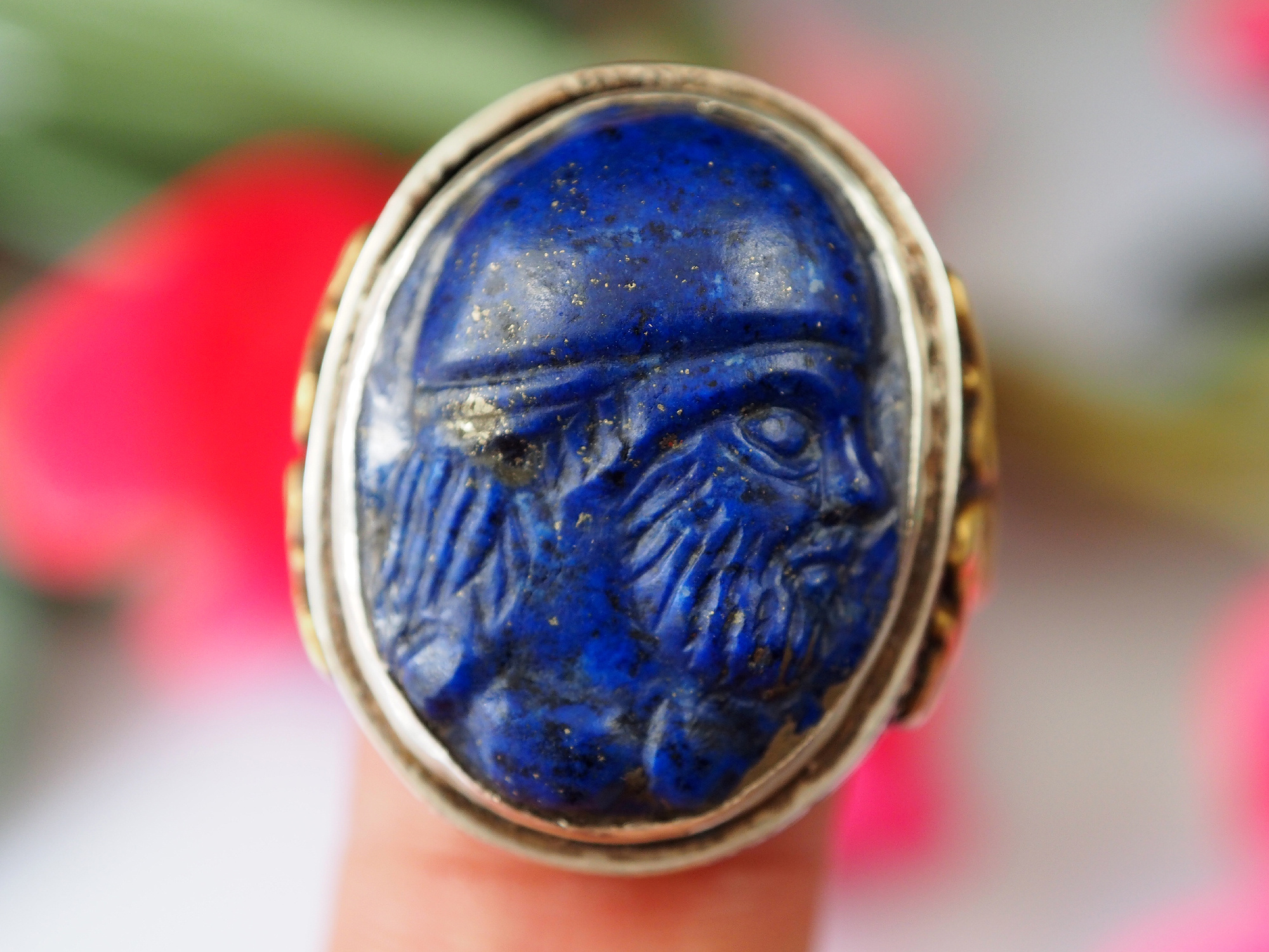 Turkmen Ring  Lapis Lazuli  seal stone No: 469