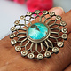 Afghan Ring  turquoise stone No:474