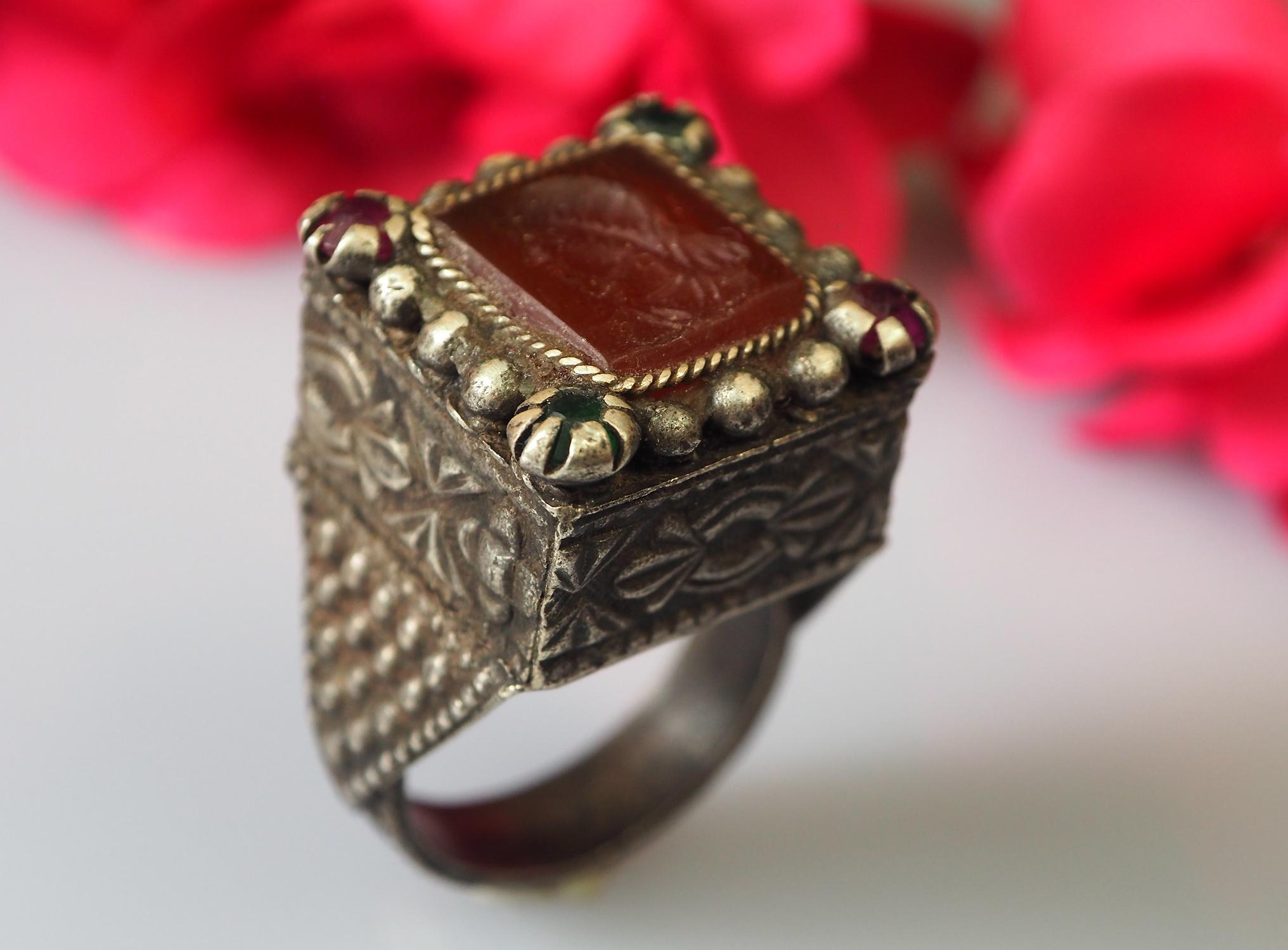 Antik  Afghanische Karneol  Siegel Ring  Nr:475