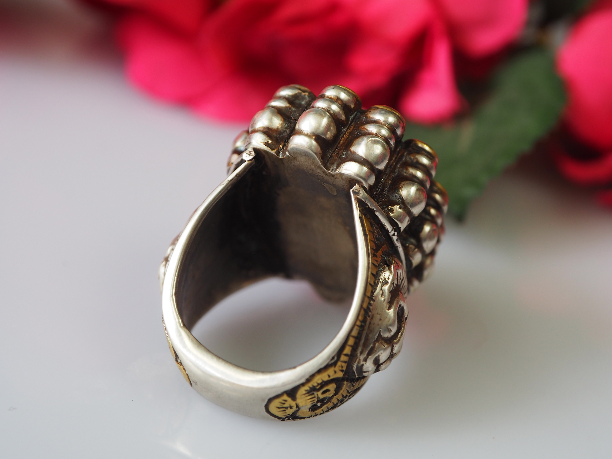 Turkmenische   Karneol Siegel Ring  Nr: 476