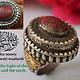 Turkmen islamic Ring   Corals seal stone No:481