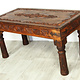 120x60 cm  solid wood hand-carved  table Nuristan  Afghanistan